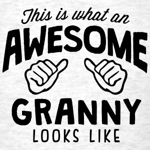 awesome granny looks like - Men's T-Shirt