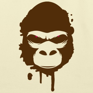 A gorilla head Graffiti Bags & backpacks - Eco-Friendly Cotton Tote