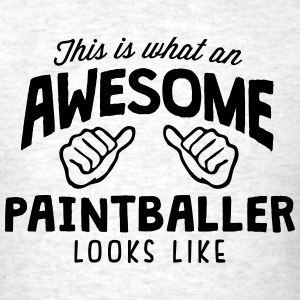 awesome paintballer looks like - Men's T-Shirt