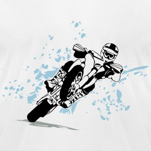 Supermoto Racing T-Shirts - Men's T-Shirt by American Apparel