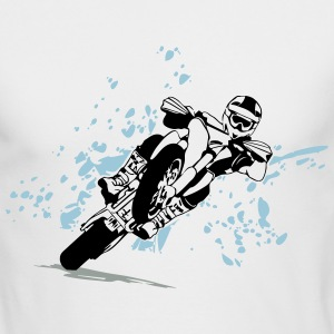 Supermoto Racing Long Sleeve Shirts - Men's Long Sleeve T-Shirt by Next Level
