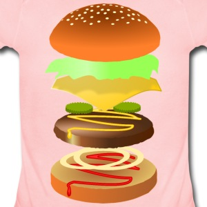 Hamburger - Short Sleeve Baby Bodysuit