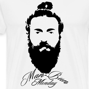 Man bun Monday - Men's Premium T-Shirt