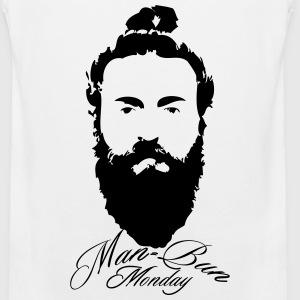 Man bun Monday - Men's Premium Tank