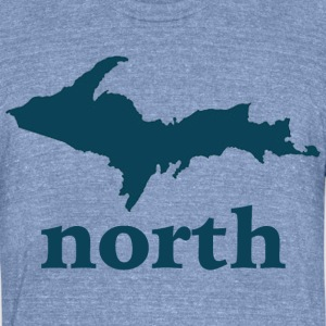 Up North U.P. Michigan T-Shirts - Unisex Tri-Blend T-Shirt by American Apparel