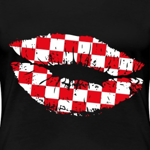 Croatia Kiss Mouth Women's T-Shirts - Women's Premium T-Shirt