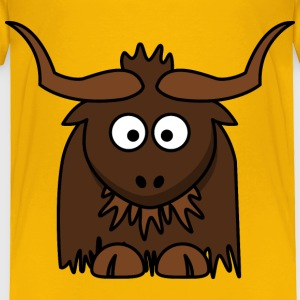 Cartoon Yak - Toddler Premium T-Shirt