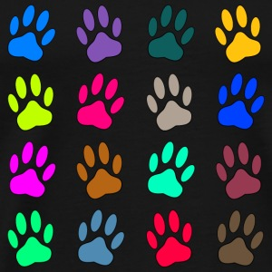 Multicolored Paw Prints T-Shirts - Men's Premium T-Shirt
