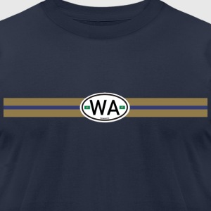 Washington Racing Stripe  - Men's T-Shirt by American Apparel