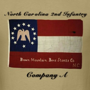 CSA NC 2nd Infantry Batt. Company A Brown Mountain - Men's T-Shirt
