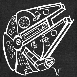 Millennium Falcon [Artist Rendering 2] Men's Tri-B - Unisex Tri-Blend T-Shirt by American Apparel