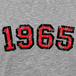 1965 Vintage Birthday T-Shirt (Men Black&Red) - Men's Premium T-Shirt