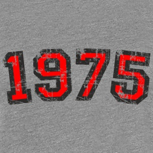 1975 Vintage Birthday T-Shirt (Women Black&Red) - Women's Premium T-Shirt