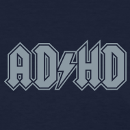Design ~ ADHD ACDC Logo - Women's T-shirt