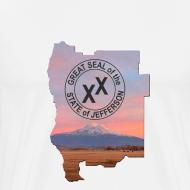 Design ~ Men's State of Jefferson (map) T-Shirt