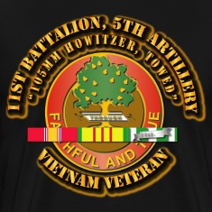 1st Battalion, 5th Artillery (105mm Howitzer, Towe T-Shirts