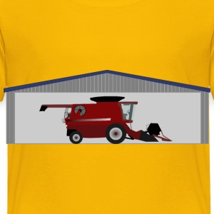 Combine harvester in shed - Toddler Premium T-Shirt