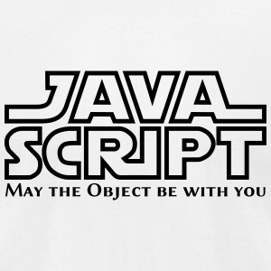 JavaScript - May the Objet be with you (white) - Men's T-Shirt by American Apparel
