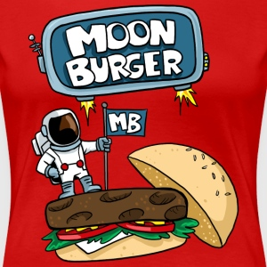 Moon Burger Color Logo Women's T-Shirts - Women's Premium T-Shirt