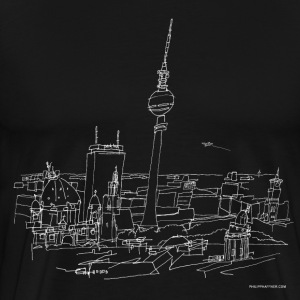 Drawing Berlin (white) T-Shirts - Men's Premium T-Shirt