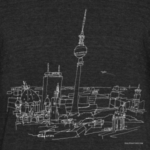 Drawing Berlin (white) T-Shirts - Unisex Tri-Blend T-Shirt by American Apparel