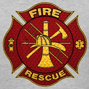 Diamond Plate Steel Firefighter Maltese Cross Women's T-Shirts - Women's V-Neck T-Shirt