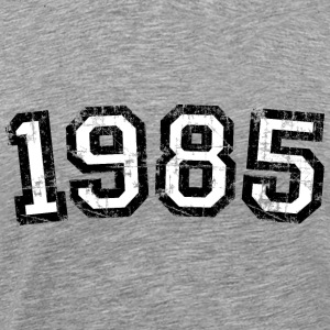 Year 1985 Vintage Birthday T-Shirt (Men Black&Whit - Men's Premium T-Shirt