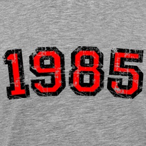 Year 1985 Vintage Birthday T-Shirt (Men Black&Red) - Men's Premium T-Shirt