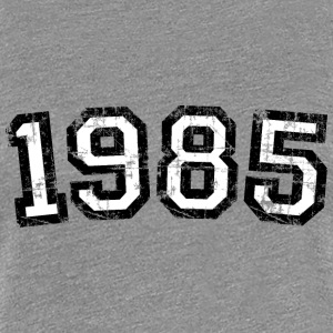 Year 1985 Vintage Birthday T-Shirt (Women Black&Wh - Women's Premium T-Shirt