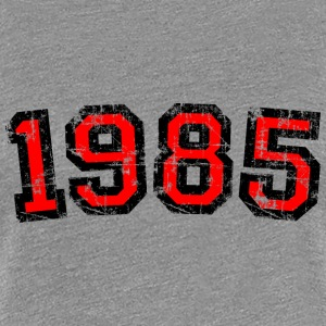 Year 1985 Vintage Birthday T-Shirt (Women Black&Re - Women's Premium T-Shirt