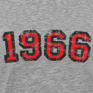 Year 1966 Vintage Birthday T-Shirt (Men Black&Red) - Men's Premium T-Shirt