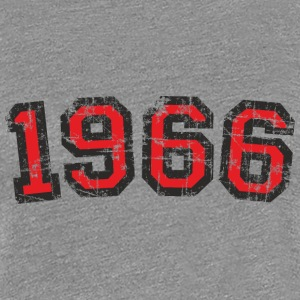 Year 1966 Vintage Birthday T-Shirt (Women Black&Re - Women's Premium T-Shirt