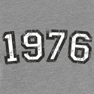 Year 1976 Vintage Birthday T-Shirt (Women Black&Wh - Women's Premium T-Shirt