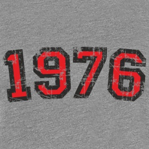 Year 1976 Vintage Birthday T-Shirt (Women Black&Re - Women's Premium T-Shirt