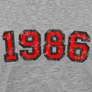 Year 1986 Vintage Birthday T-Shirt (Men Black&Red) - Men's Premium T-Shirt