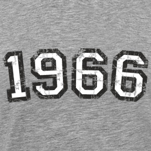Year 1966 Vintage Birthday T-Shirt (Men Black&Whit - Men's Premium T-Shirt