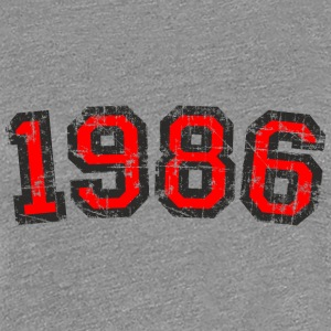 Year 1986 Vintage Birthday T-Shirt (Women Black&Re - Women's Premium T-Shirt