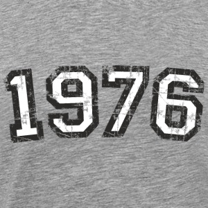 Year 1976 Vintage Birthday T-Shirt (Men Black&Whit - Men's Premium T-Shirt