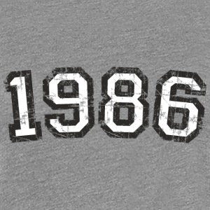 Year 1986 Vintage Birthday T-Shirt (Women Black&Wh - Women's Premium T-Shirt