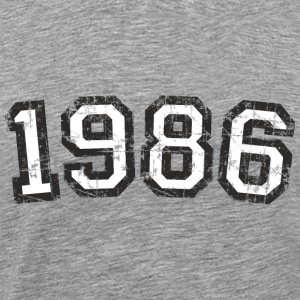 Year 1986 Vintage Birthday T-Shirt (Men Black&Whit - Men's Premium T-Shirt