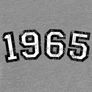 1965 Vintage Birthday T-Shirt (Women Black&White) - Women's Premium T-Shirt