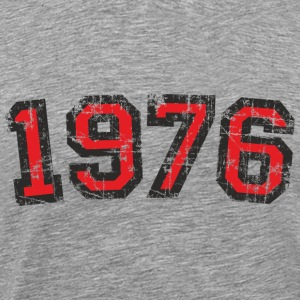 Year 1976 Vintage Birthday T-Shirt (Men Black&Red) - Men's Premium T-Shirt