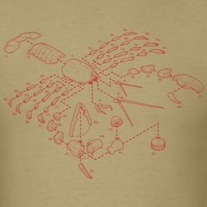 Exploded View Lobster T-Shirt - Men's T-Shirt