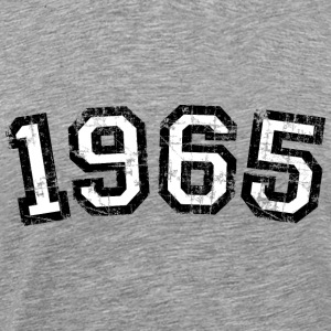 1965 Vintage Birthday T-Shirt (Men Black&White) - Men's Premium T-Shirt