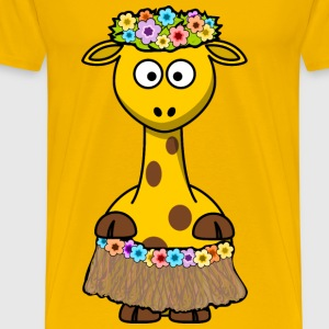 Giraffe Hawaii - Men's Premium T-Shirt