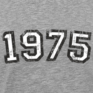 1975 Vintage Birthday T-Shirt (Men Black&White) - Men's Premium T-Shirt