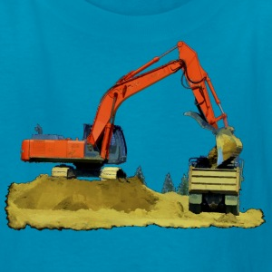 Excavator and Tip-Truck - Kids' T-Shirt