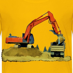 Excavator and Tip-Truck - Toddler Premium T-Shirt