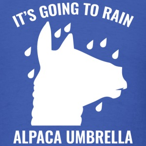 Alpaca Umbrella - Men's T-Shirt