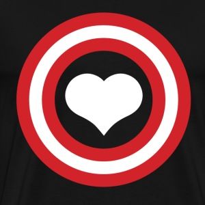 80s, movie, Captain, 80's, round, red, heart, warm - Men's Premium T-Shirt